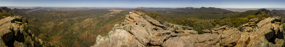 The Flinders Ranges from St. Mary's Peak