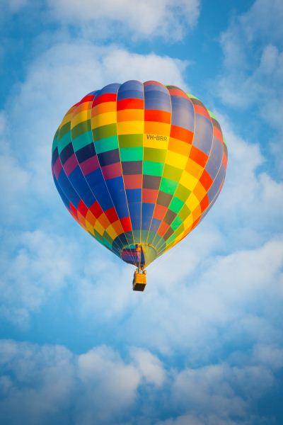 Multi-coloured Hot Air Balloon