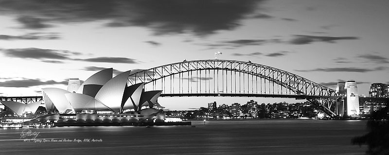 Opera house and harbour bridge 31129 photo photograph image r a stanley landscape photography prints