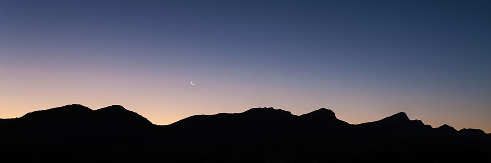 Cresent Moon over Wilpena Pound