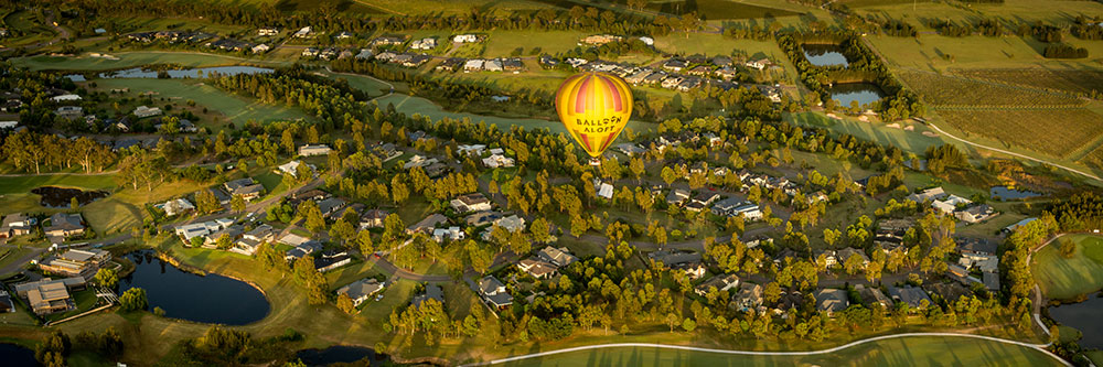 Ballooning Over the Vintage Golf Club