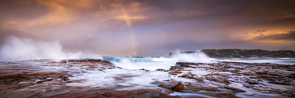 Rainbow Storm, North Avoca