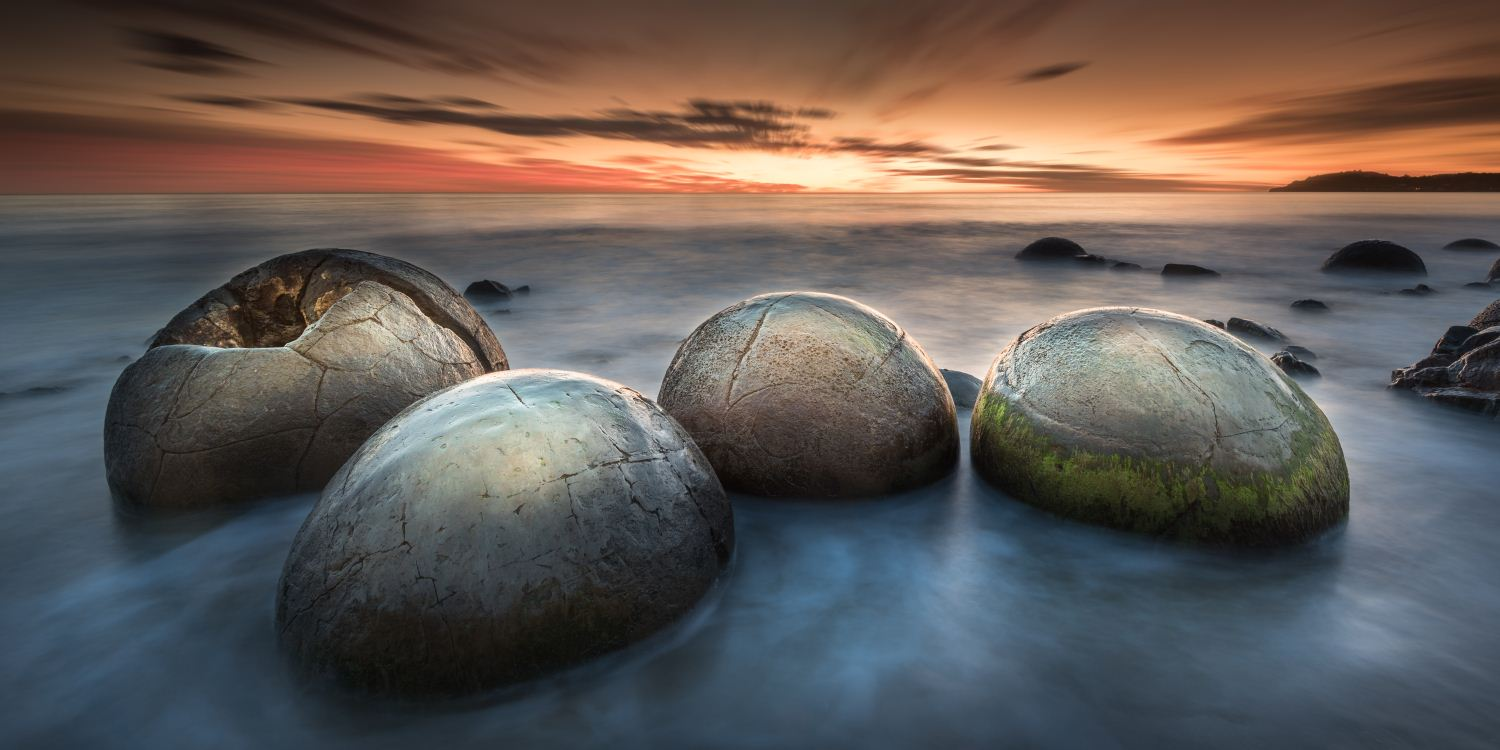 Moeraki Boulders, Moeraki, Otagao, South Island, New Zealand